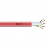 1000-FT RED CAT6 SOLID CAB LE 550MHZ UTP CMR PULL BOX