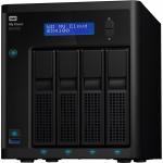 WD TDSourcing My Cloud EX4100 WDBWZE0080KBK - NAS server - 4 bays - 8 TB - HDD 4 TB x 2 - RAID 0 1 5 10 JBOD 5 hot spare - RAM 2 GB - Gigabit Ethernet - iSCSI support