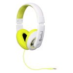 Multimedia Headset - Stereo - Lime White - Mini-phone - Wired - 32 Ohm - 20 Hz - 20 kHz - Over-the-head - Binaural - Ear-cup - 4.83 ft Cable