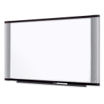 Dry Erase Board - 96 inch Width x 48 inch Height - Silver Melamine Surface - Aluminum Frame - Film - 1 / Each