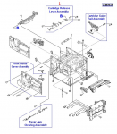 Cartridge release lever assembly