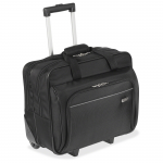 16 inch Metro Roller Notebook Bag - 16 inch Screen Support - Polyester - Black