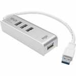 3-Port USB 3.0 SuperSpeed Hub with Keyboard/Mouse Sharing and File Transfer - Hub - 3 x SuperSpeed USB 3.0 - desktop