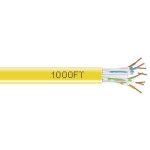 1000-FT YELLOW CAT6 SOLID CABLE 550MHZ UTP CMR PULL BOX