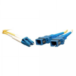 0.3M Duplex Multimode Fiber Optic 8.3/125 Adapter LC/SC M/F 1ft 1 0.3 Meter - Network adapter - LC single-mode (M) to SC single-mode (F) - fiber optic - 8.3 / 125 micron - yellow