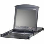 16Port 17inch Dual Rail LCD Cat5 KVM Switch with Extra Console Port TAA Retail