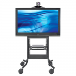 Display Stand - 37 inch to 65 inch Screen Support - 300 lb Load Capacity - 1 x Shelf(ves) - 60.5 inch Height x 36 inch Width x 26.5 inch Depth - Powder Coated - Steel