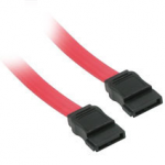 18in 7-pin 180 1-Device Serial ATA Cable - Female SATA - Female SATA - 18 inch - Red