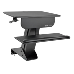 Sit Stand Desktop Workstation Adjustable Standing Desk with Clamp - Standing desk converter - rectangular - black