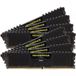 128GB 8X288 2400MHZ DDR4 DIMM VENGEANCE LPX BLACK WITH AIRFLOW