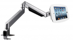 IPAD PRO SECURE SPACE ENCLOSURE WITH REACH ARTICULATING ARM KIOSK WHITE. LOCKAB