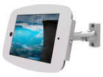 IPAD PRO SECURE SPACE ENCLOSURE WITH SWING ARM KIOSK WHITE.LOCKABLE SPACE ENCLOS