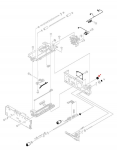 18 tooth gear - Located on right side of printer in the 500 sheet tray paper pickup assembly