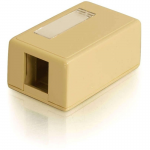 1-Port Keystone Jack Surface Mount Box - Ivory - 1 x Socket(s) - Ivory
