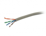 1000ft Cat6 Ethernet Cable-Stranded UTP In-Wall CM-Rated Gray TAA - cable - 1000 ft - UTP - CAT 6 - IEEE 802.3at - stranded - gray