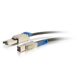 SAS external cable - SAS 12Gbit/s - 4 x Mini SAS HD (SFF-8644) (M) latched to 26 pin 4x Mini SAS (M) latched - 16.4 ft - black