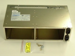 Power supply receiver assembly - Has slot for one power supply - Includes metal cage and PC board
