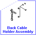 Fan control cable assembly - Includes the cable assembly and holder - Mounts on the rear of the printer and routes cable around the DC controller board