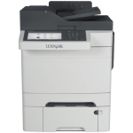 CX510dthe - Multifunction printer - color - laser - Legal (8.5 in x 14 in) (original) - A4/Legal (media) - up to 32 ppm (copying) - up to 32 ppm (printing) - 900 sheets - 33.6 Kbps - USB 2.0 Gigabit LAN USB host with 3 years Onsite Service