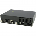 10 Gigabit Ethernet IP-Managed Stand-Alone Media Converter with Dual XFP Slots - Yes - 10GBase-X - 2 x Expansion Slots - 2x XFP Slots - Wall Mountable Rail-mountable Rack-mountable