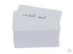 CREDENTIAL PVC CR80/20 CARD WITH WRITING PANEL ON THE BACK SOLD BY A PACK OF 100 PRICED PER PACK