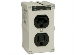 ISOBAR 2-OUTLET SURGE PROTECTOR DIRECT PLUG-IN 1410 JOULES DIAGONSTIC LED METAL HOUSING