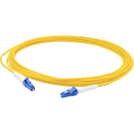 15m Single-Mode fiber (SMF) Simplex LC/LC OS1 Yellow Patch Cable - Fiber Optic for Network Device - 49.21 ft - 1 x LC Male Network - 1 x LC Male Network - Yellow