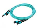 10m MPO OM4 Aqua Patch Cable - Patch cable - MPO multi-mode (F) to MPO multi-mode (F) - 10 m - fiber optic - 50 / 125 micron - OM4 - halogen-free - aqua