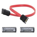 5 Pack 12in SATA Serial ATA Cable - M/M - SATA - 1 ft - 5 Pack - 1 x SATA Male SATA - 1 x SATA Male SATA - Red