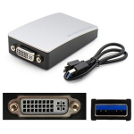 1.0ft USB 3.0 (A) to DVI-I (29 pin) Adapter - External video adapter - USB 3.0 - DVI - silver