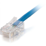 10ft Cat5e Non-Booted Unshielded (UTP) Network Patch Cable (Plenum Rated) - Blue - Category 5e for Network Device - RJ-45 Male - RJ-45 Male - Plenum-Rated - 10ft - Blue