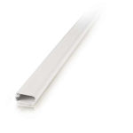 2 pack 8ft Wiremold Uniduct 2800 - White - Raceway - White - 20 Pack - Polyvinyl Chloride (PVC)