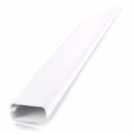 2 pack 8ft Wiremold Uniduct 2900 - White - Raceway - White - 20 Pack - Polyvinyl Chloride (PVC)