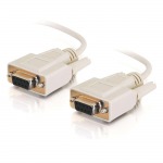 1ft DB9 F/F Null Modem Cable - Beige - DB-9 Female Serial - DB-9 Female Serial - 1ft - Beige