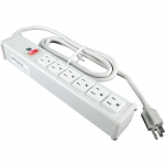 15ft Wiremold 6-Outlet Plug-In Center Unit 120v/15a Lighted Switch Power Strip - Power strip - AC 120 V - output connectors: 6 - 15 ft - white