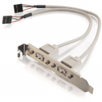 1ft 2-Port USB 2.0 Internal AT Motherboard Adapter - USB adapter - USB (F) to 5 pin in-line (F) - 7.9 in