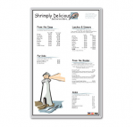 Laminating Pouches Menu - 3 mil - 50-pack - glossy - Tabloid Extra (12 in x 18 in) lamination pouches
