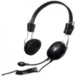 Connectland Computer/Audio Headset with Microphone Over the Head On the Ear - Stereo - Mini-phone - Wired - 32 Ohm - 20 Hz - 20 kHz - Over-the-head - Binaural - Circumaural