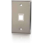 1-Port Single Gang Multimedia Keystone Wall Plate - Stainless Steel - 1 x Socket(s) - 1-gang