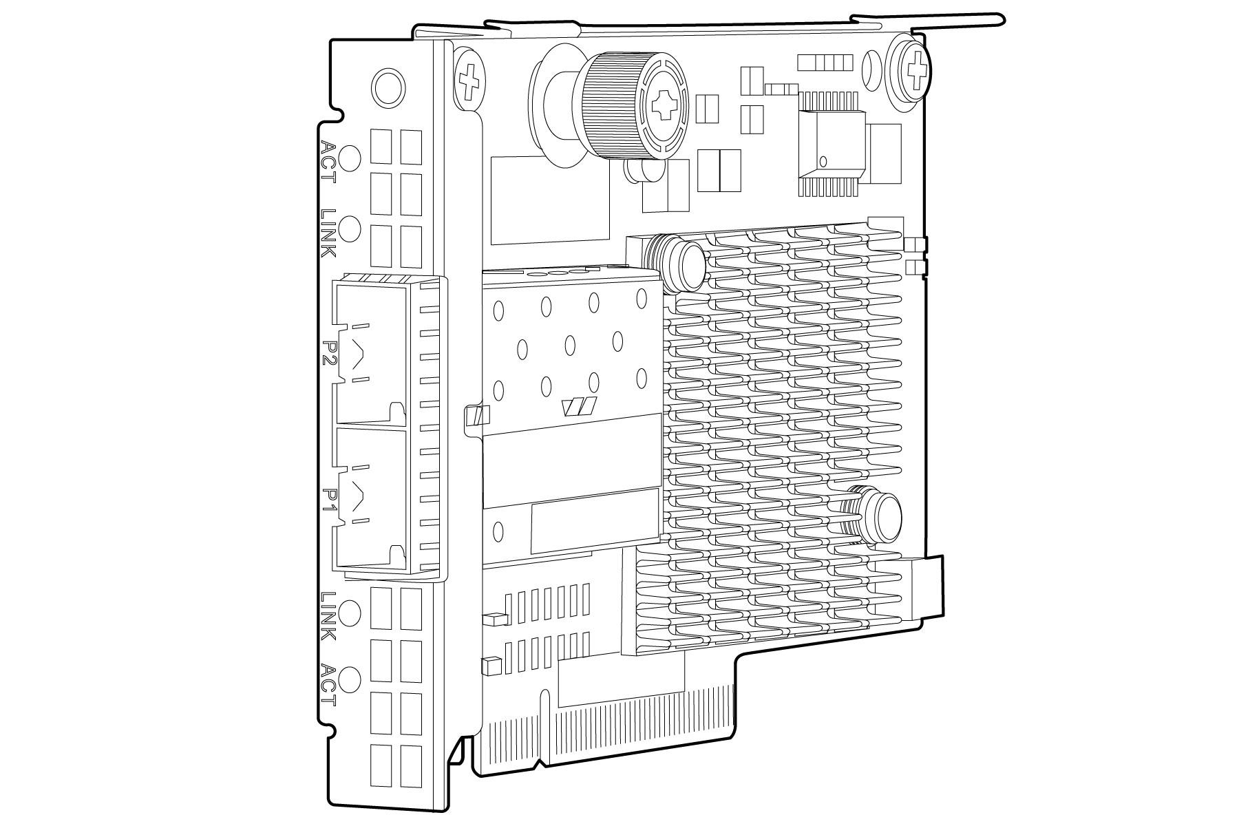 Quickspecs HP Ethernet 10Gb 2-port 561FLR-T Adapter