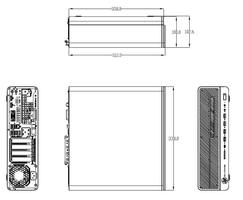 HP Elite 800 G3 Business Desktop Business PCs