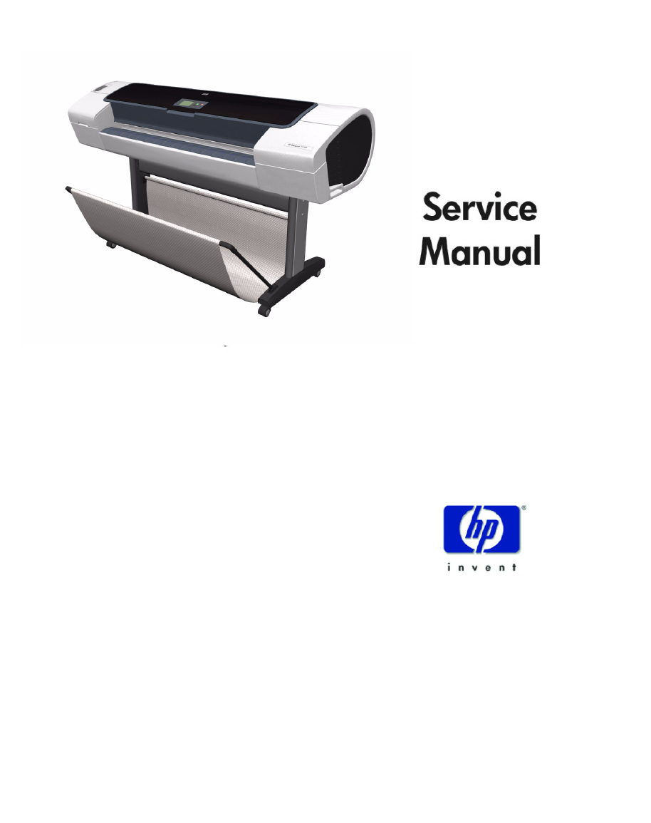 Hp t610 plotter service manual