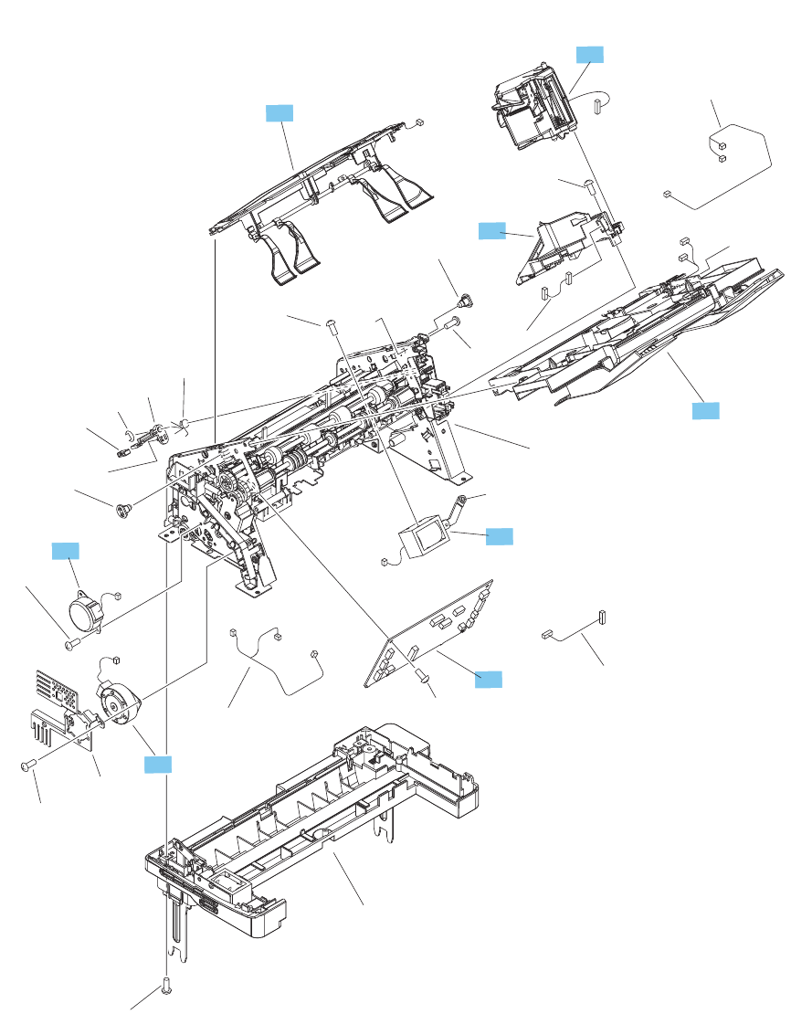 E6b67 67904 Hp New Laserjet Ent M604 M605 M606 Transfer Roller Assembly Altec Lansing 7 Wiring Diagram Pinout Find A Guide With Stapler Stacker Main Body