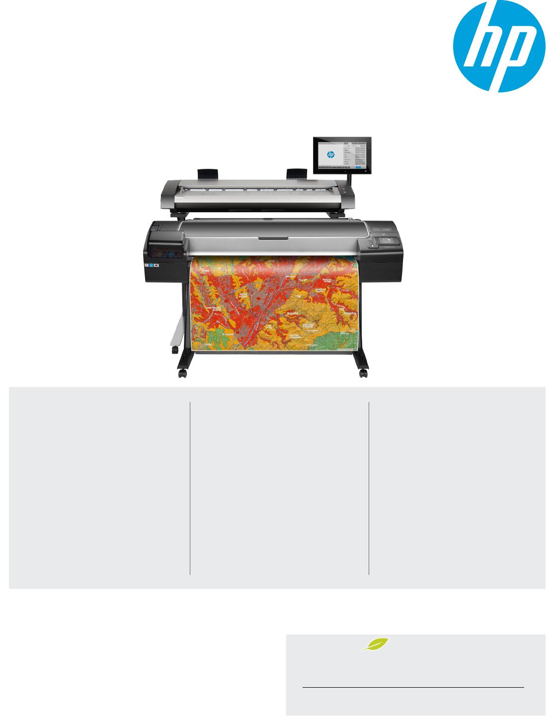 Data sheet HP DesignJet HD Pro MFP