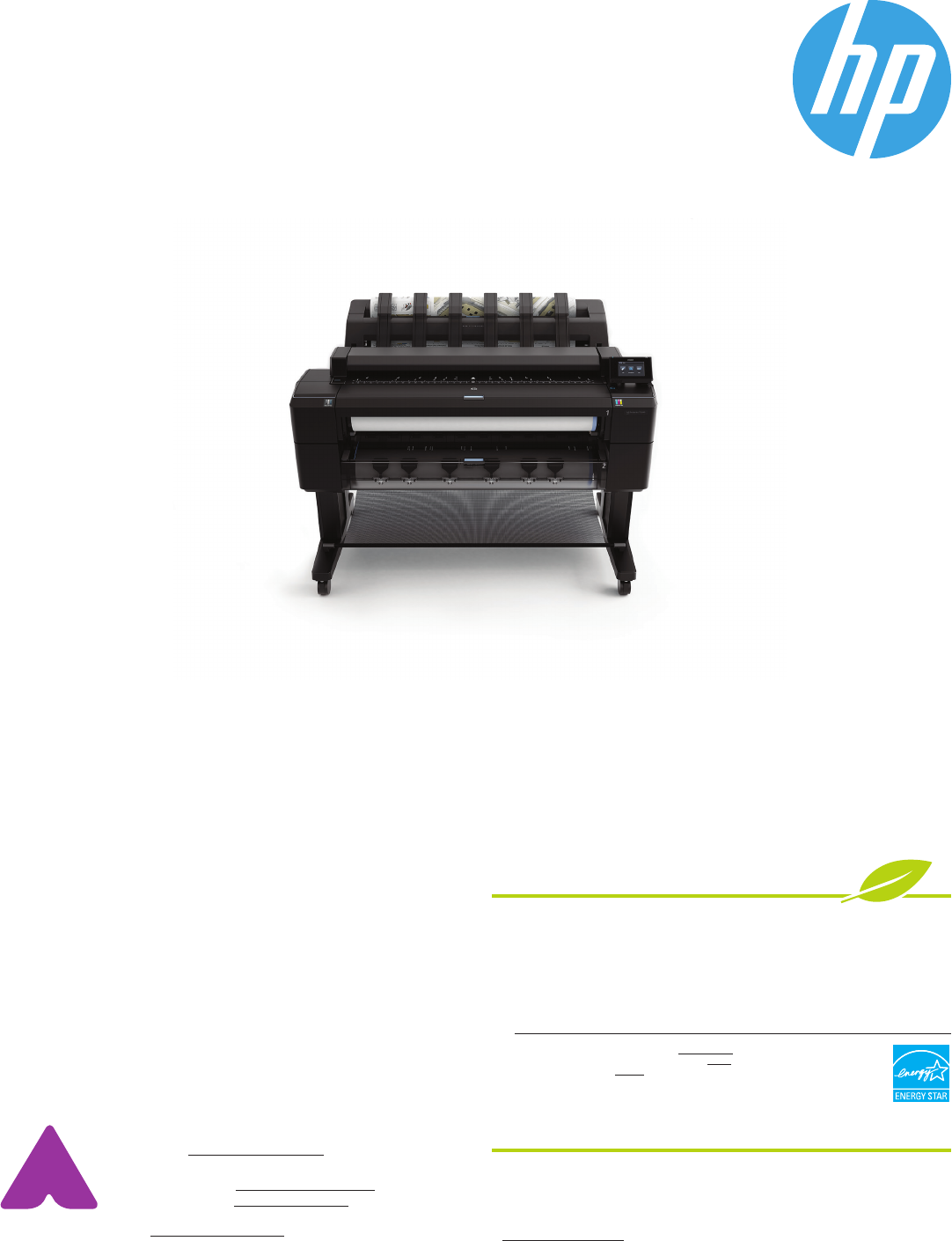 HP DESIGNJET T2500 PS Large Format Color eMultifunction 36 IN CR359A