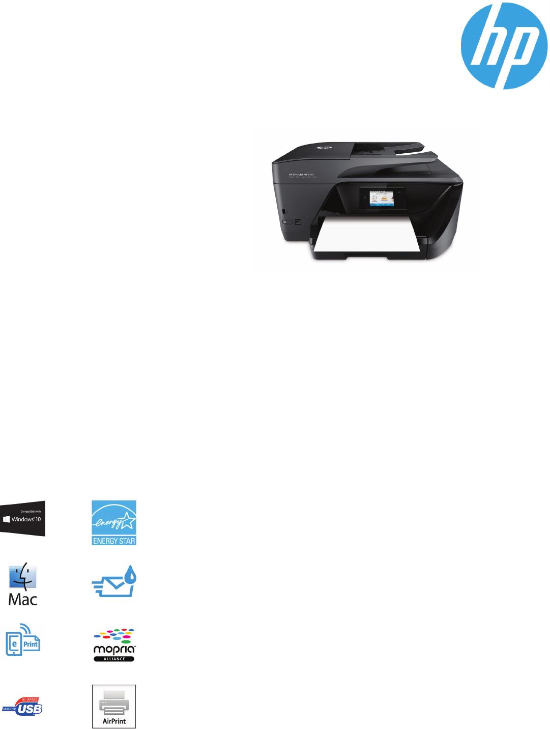 Datasheet HP OfficeJet Pro 6978 All-in-One Printer