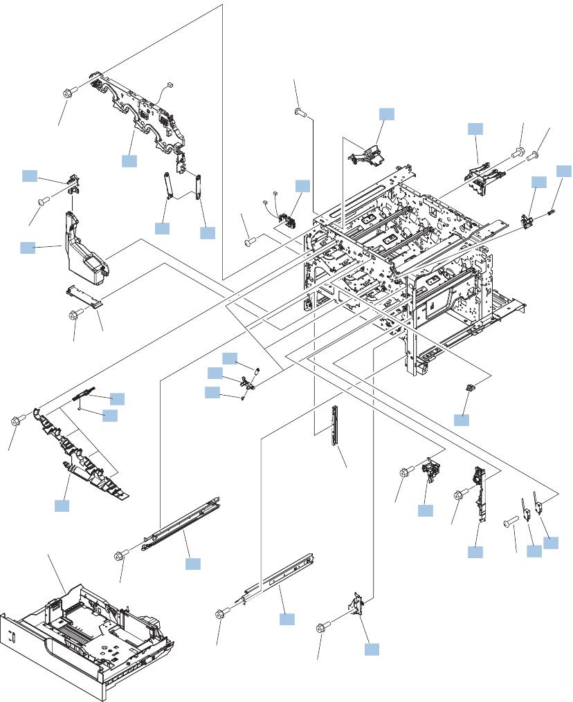 Hp Color Laserjet Cm4540 Mfp Service Manual 1212 Doc Schematic Technical Info Parts List Internal Components 3 Of 7