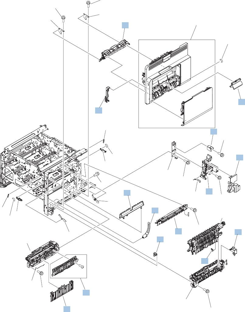 Hp Color Laserjet Cm4540 Mfp Service Manual 1212 Doc Schematic Technical Info Parts List Internal Components 5 Of 7