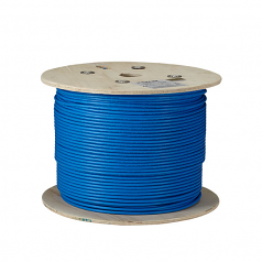 1000FT CAT6A 650MHZ SOLID CABLE F/UTP CM BLUE