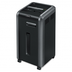 Powershred 225Ci 100% Jam Proof Cross-Cut Shredder - Shreds 22 sheets per pass into 5/32? x 1-1/2? cross-cut particles (Security Level P-4) - 16-gallon bin